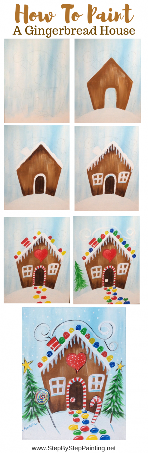 Photo of How To Paint A Gingerbread House