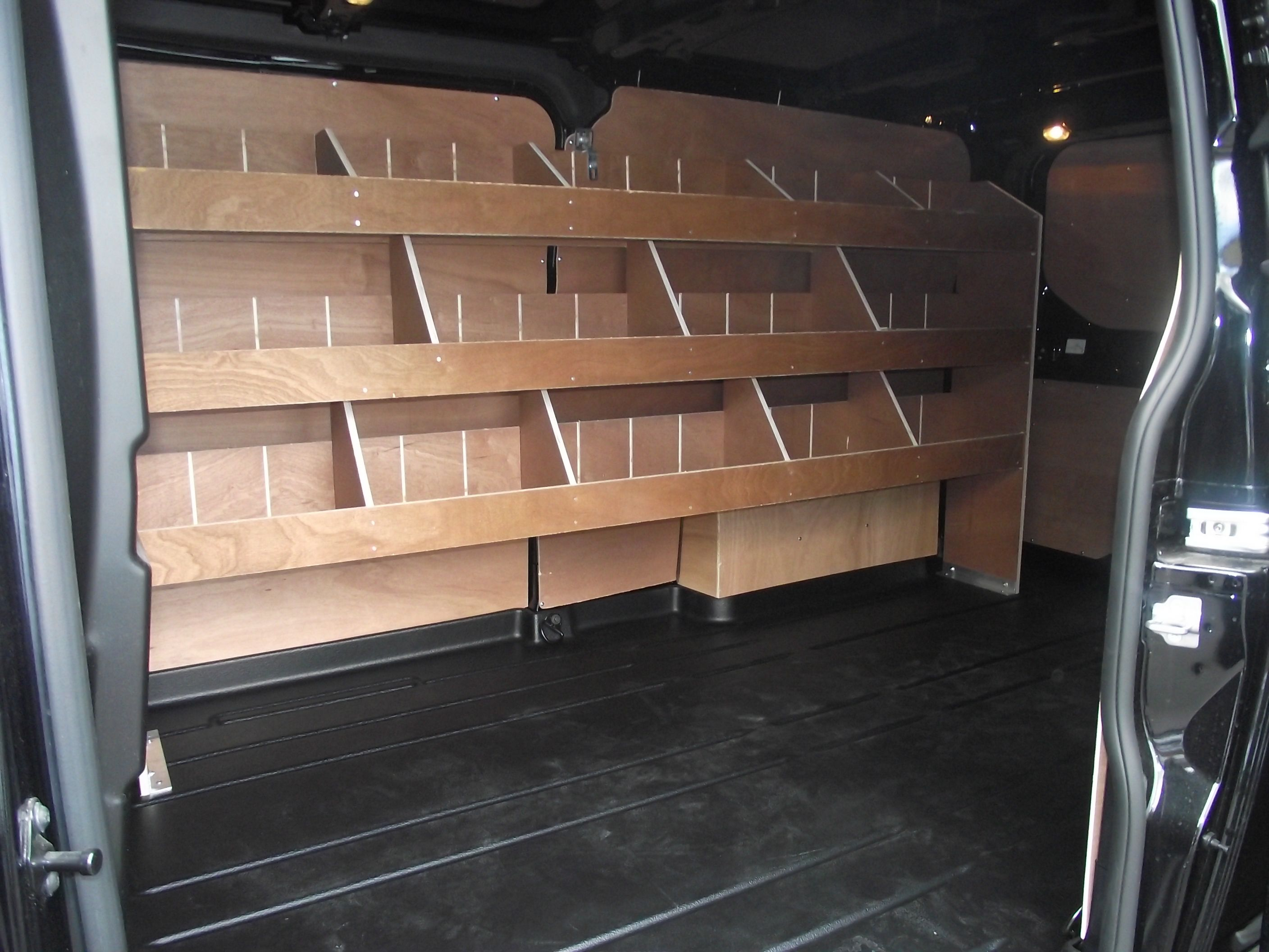 Bespoke Racking Fitted To A 2016 Ford Transit Custom Bespoke  # Muebles Sortimo