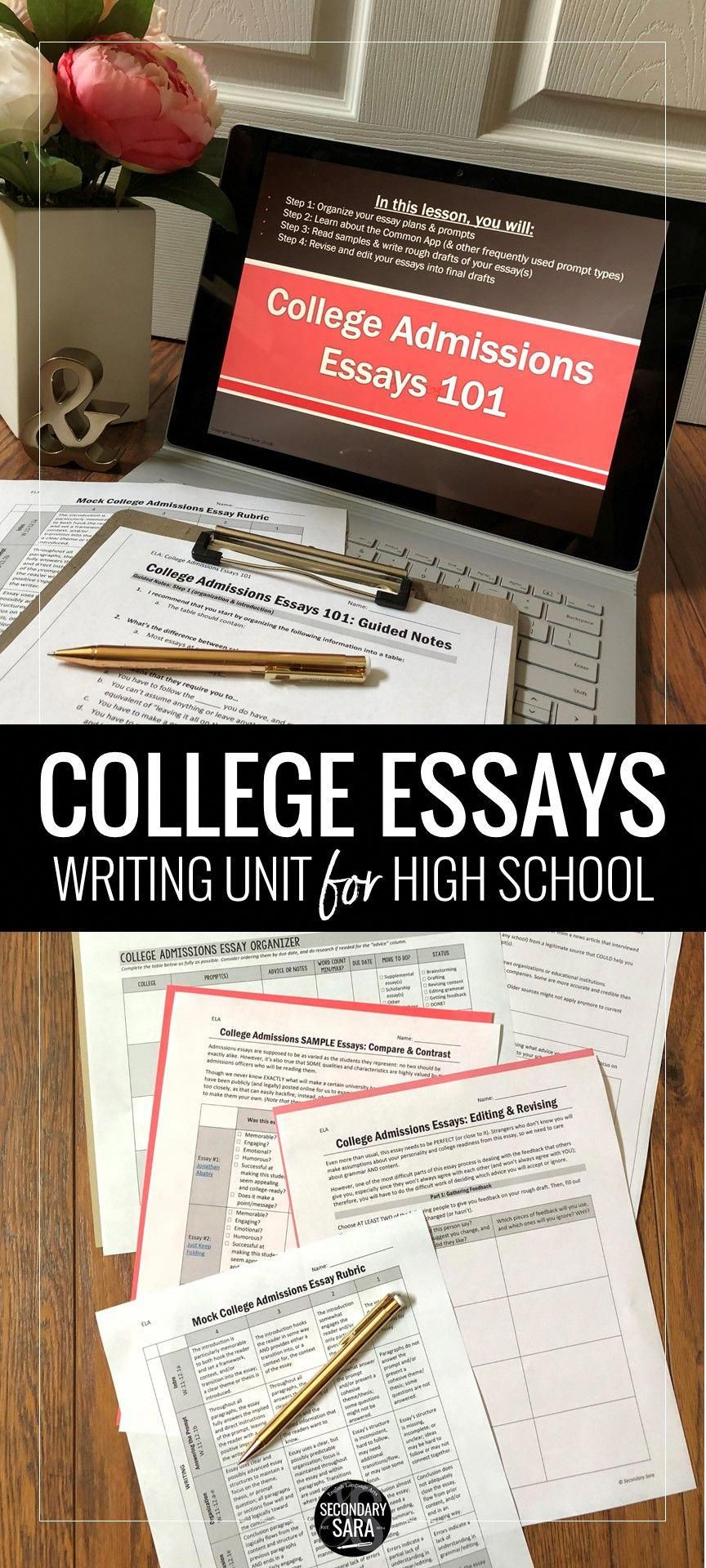 College Admissions Essay/Personal Statement Writing Unit