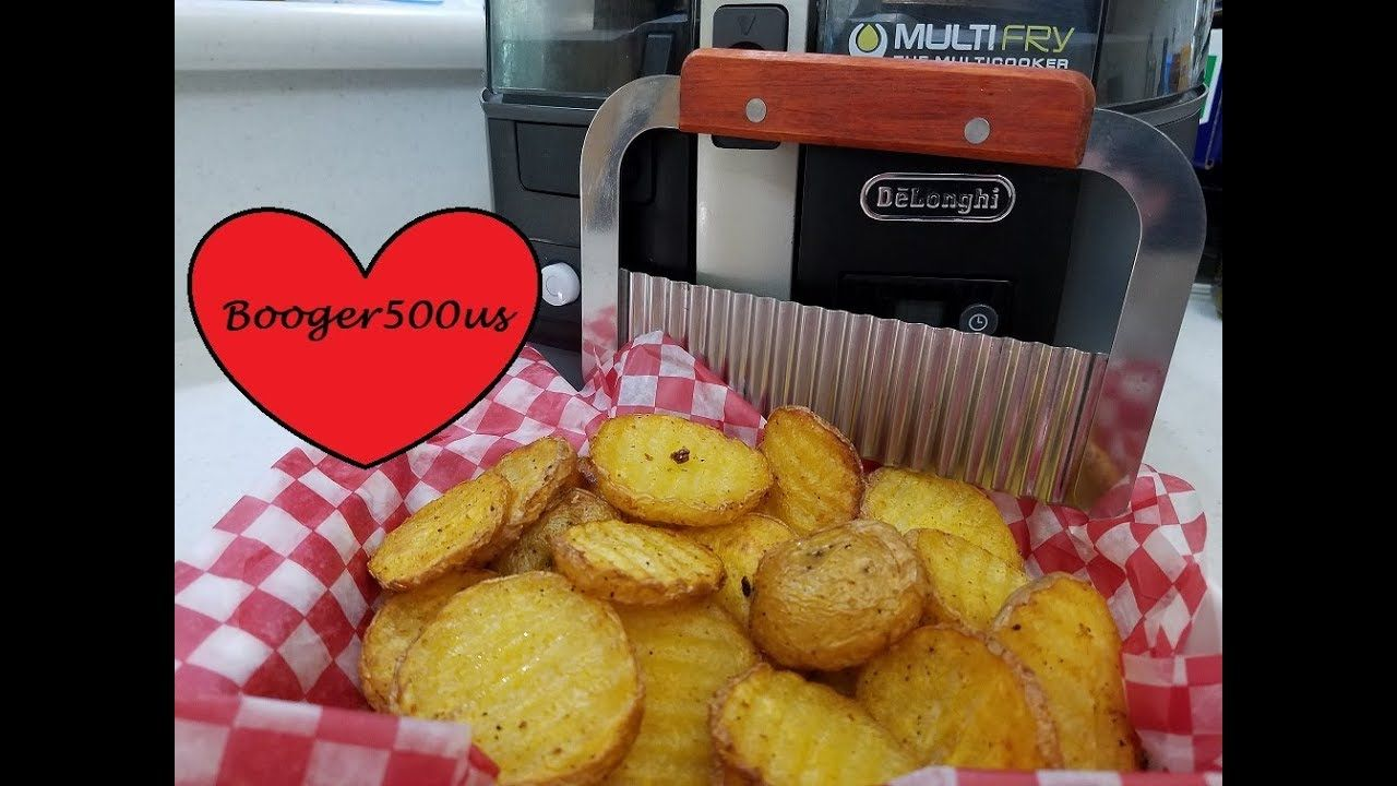Crinkle wavy fries wanna be waffle fries air fryer