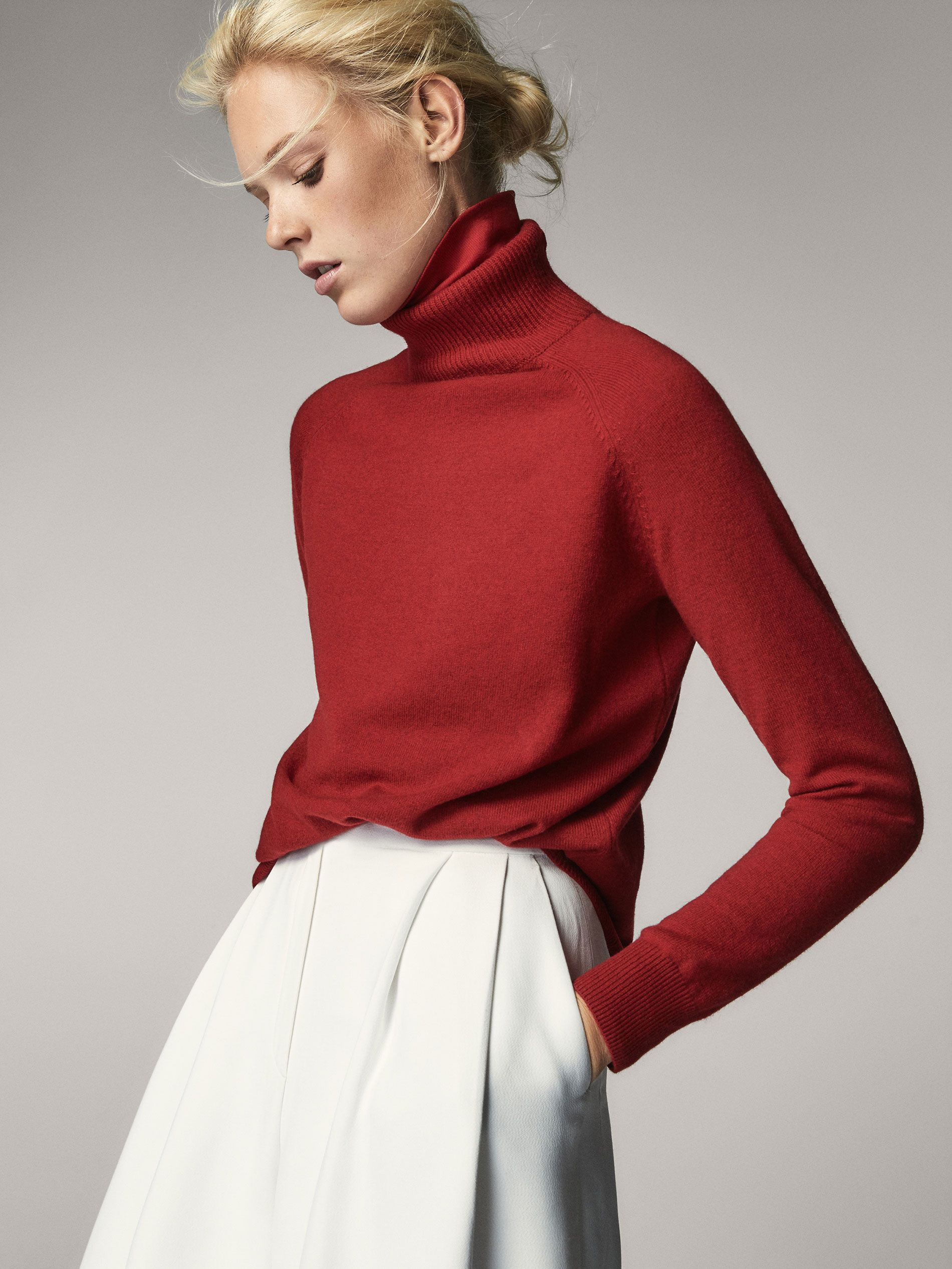 4e6100e8f7 Fall Winter 2017 Women´s SOLID-COLOURED WOOL AND CASHMERE SWEATER at Massimo  Dutti for 54.95. Effortless elegance!