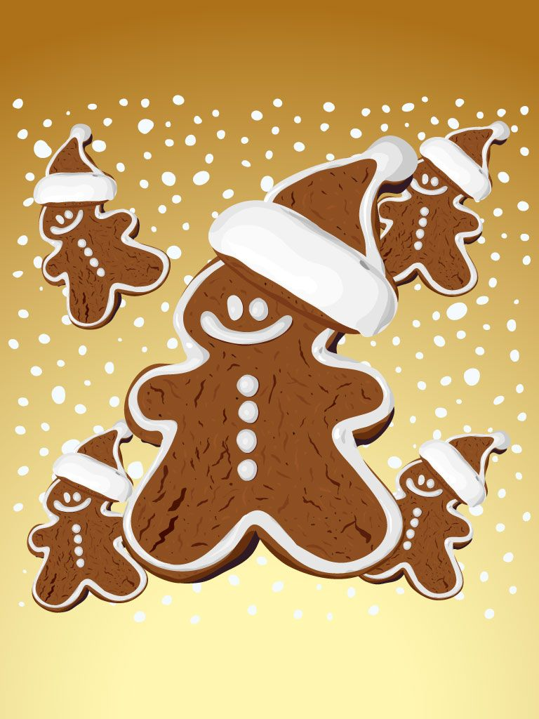 Christmas gingerbread iphone wallpaper background iphone - Gingerbread iphone wallpaper ...