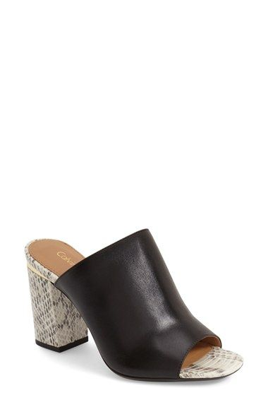 outlet store best shoes detailed look Calvin Klein 'Cice' Mule Sandal (Women   Mule sandals, Black mules ...