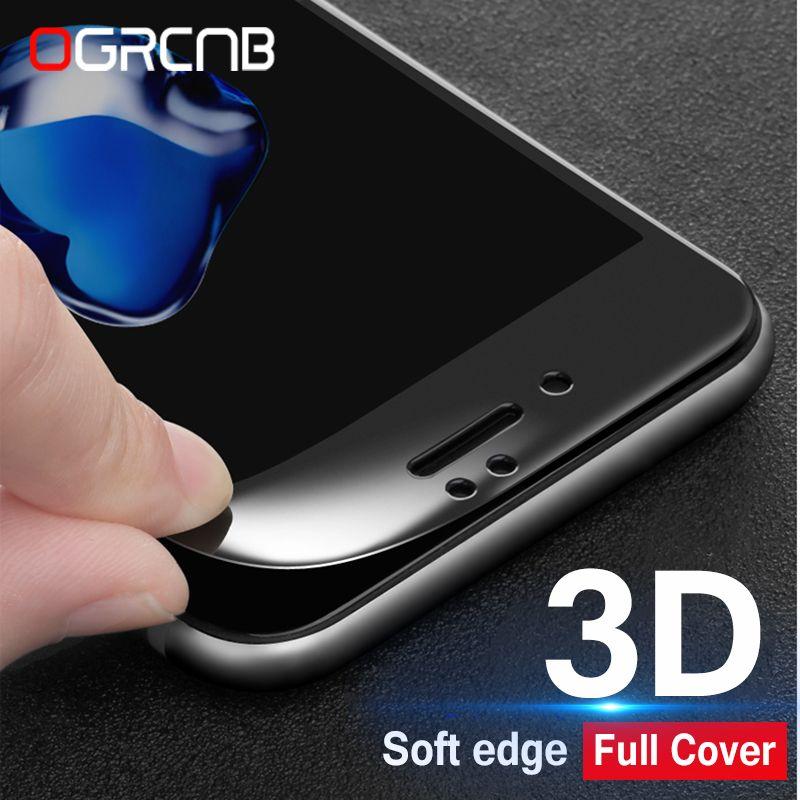 1f667f29686 comprar 3D borde curvado protector de pantalla completa para iPhone 6 7 6 S  8 más vidrio templado para el iPhone 7 8 6 6 s más c endurecido Películas
