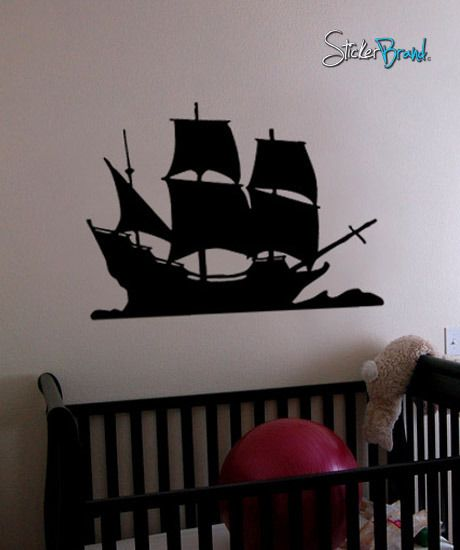 Wall mural for the pirate bedroom