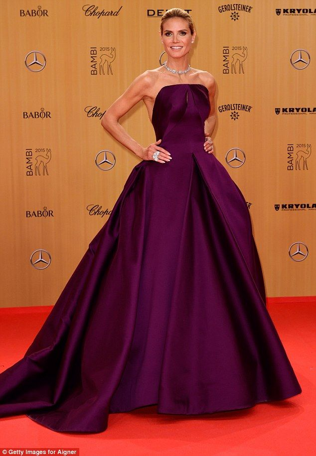 Heidi Klum Looks Exquisite In Backless Ballgown At Bambi