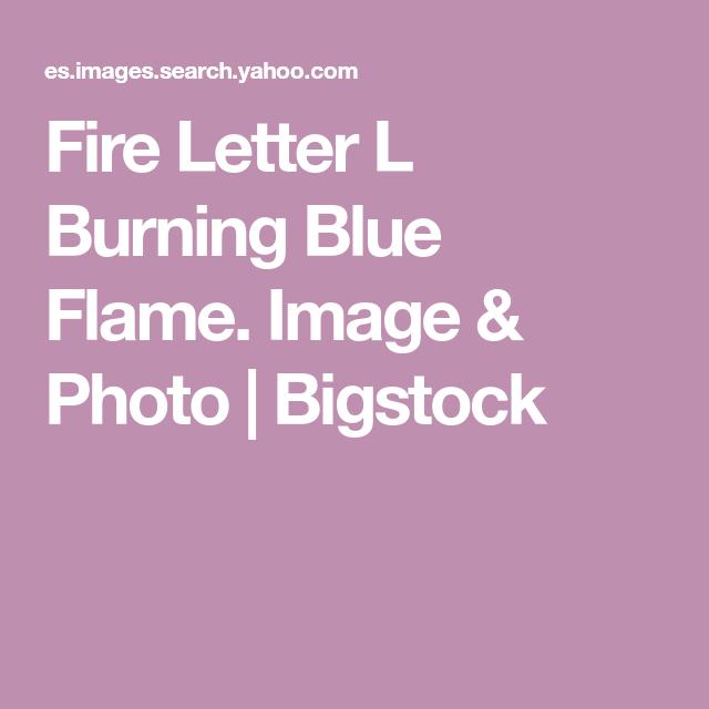 Fire Letter L Burning Blue Flame Image Photo Bigstock