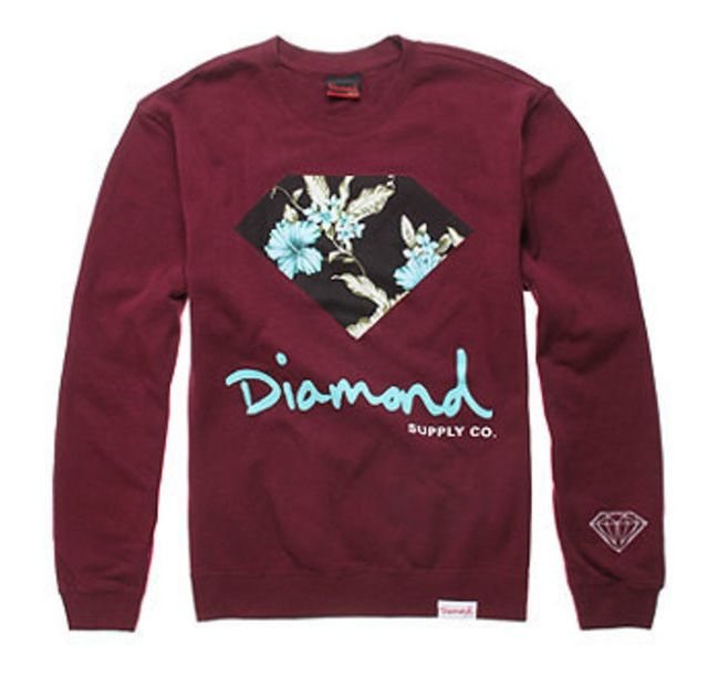 Floral diamond supply co sweatshirt diamond life for Wholesale diamond supply co shirts