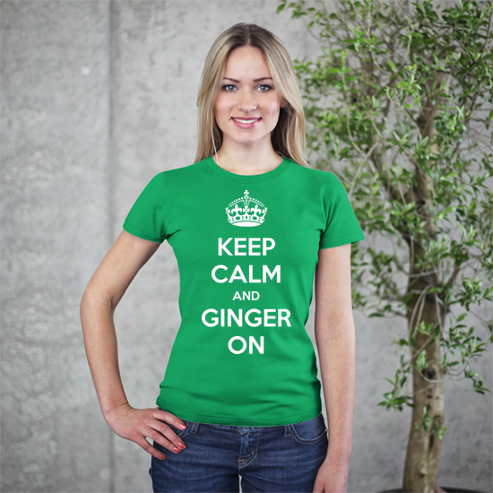 ginger on women's t-shirt
