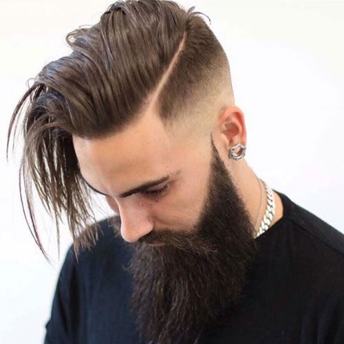 High Bald Fade With Comb Over And Hard Part Hard Part Haircut Long Hair Styles Long Hair Styles Men