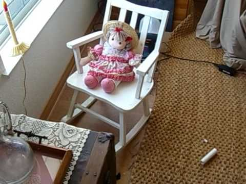 Amazing Rocking Chair With Wiper Motor Youtube Haunted House Machost Co Dining Chair Design Ideas Machostcouk