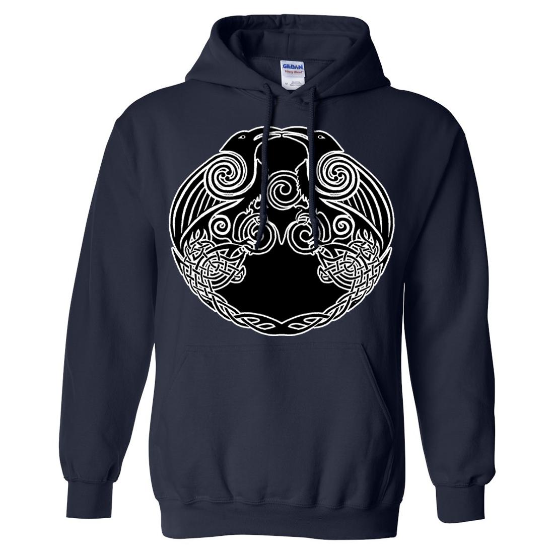Dual Raven Two Tone Sweatshirt Hoodie