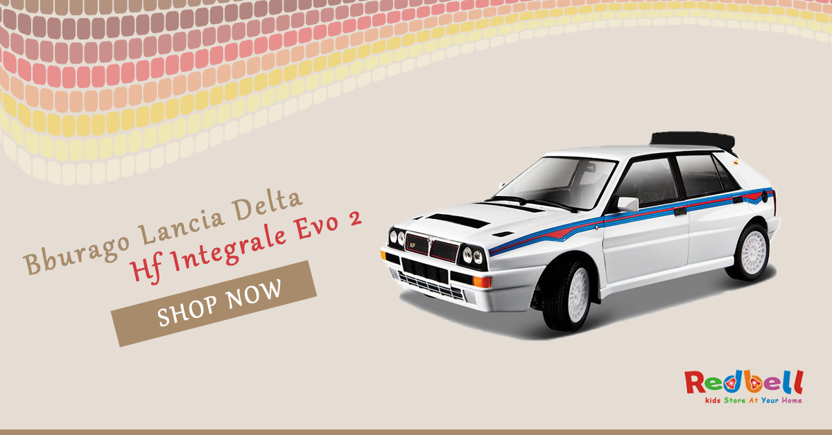 Shop for Bburago Lancia Delta Hf Integrale Evo 2 Online at Redbell.com. Shop Now #toys #toystore #online #rccars #rc #remotecontrollcars #shopping #delhi