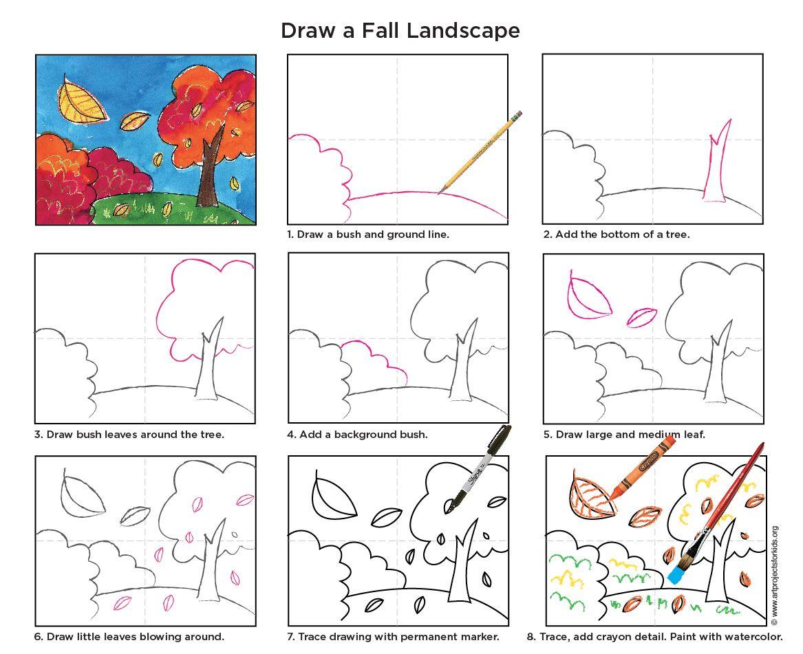 Осенние картинки нарисовать пошагово, аниме рисунок открытки