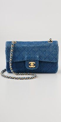 13fcf57bbb051e Vintage Chanel Quilted Denim Bag   Lucy Blue Styleboard   Denim bag ...