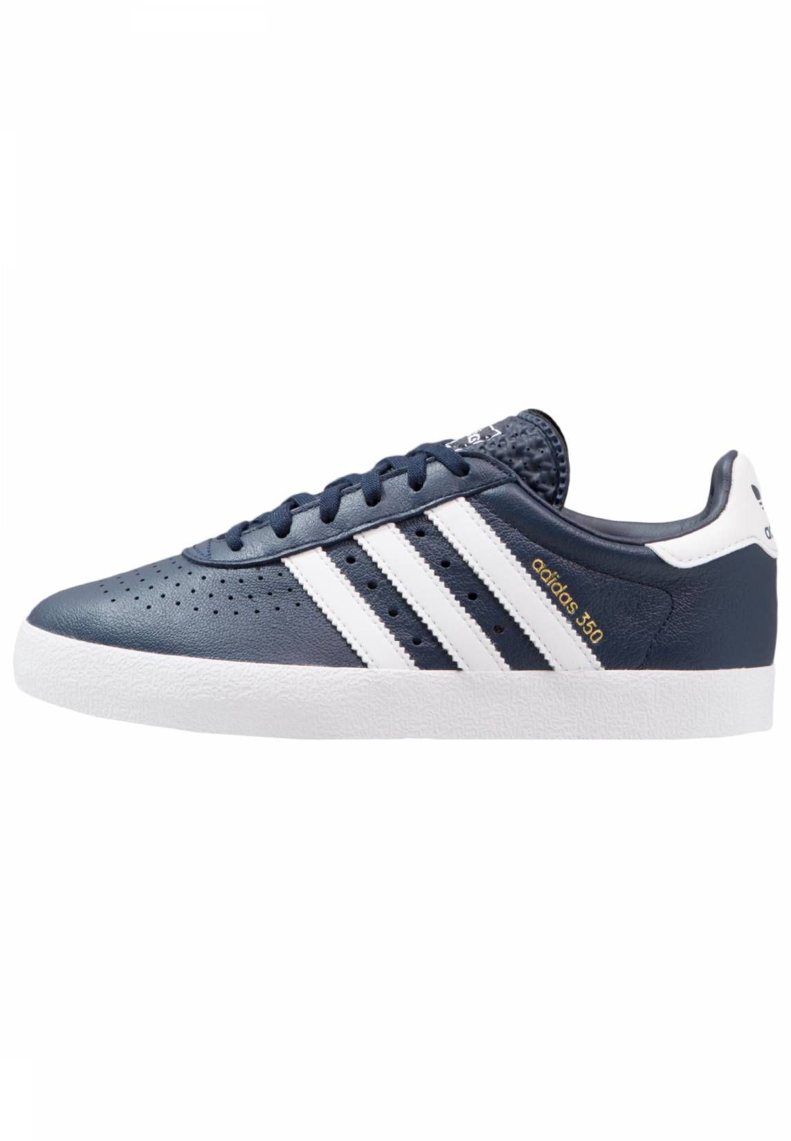 adidas Originals ADIDAS 350 - Trainers - collegiate navy/footwear white/gold  metallic for with free delivery at Zalando