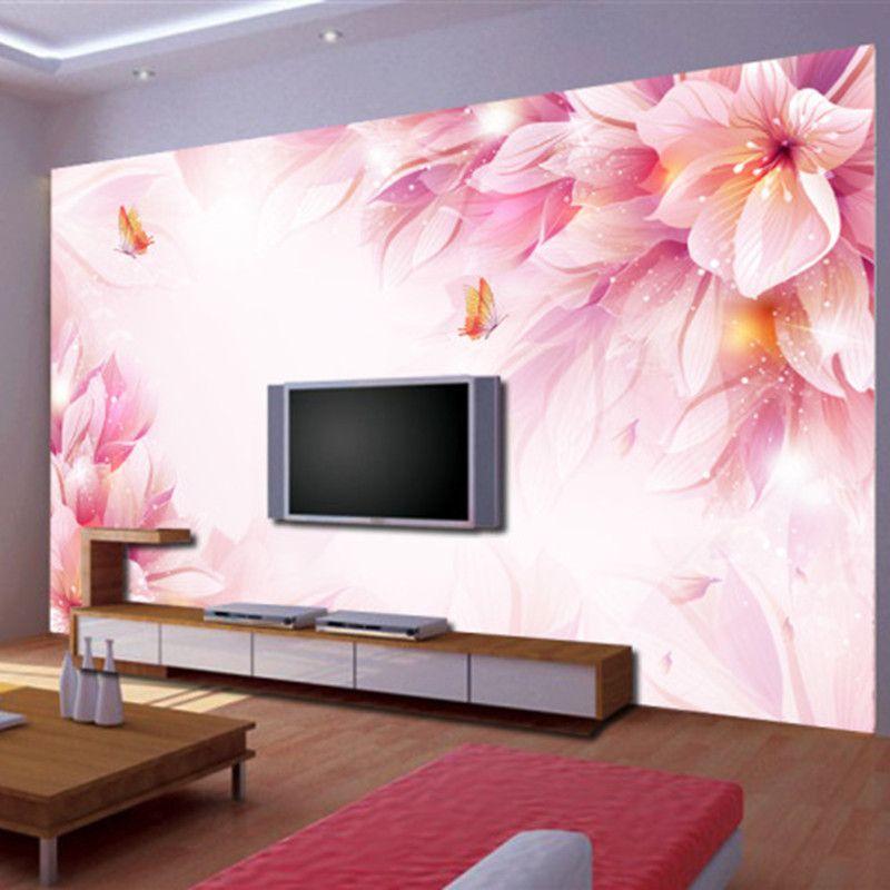 Custom 3D stereoscopic wallpaper Swan room for the living room 2016