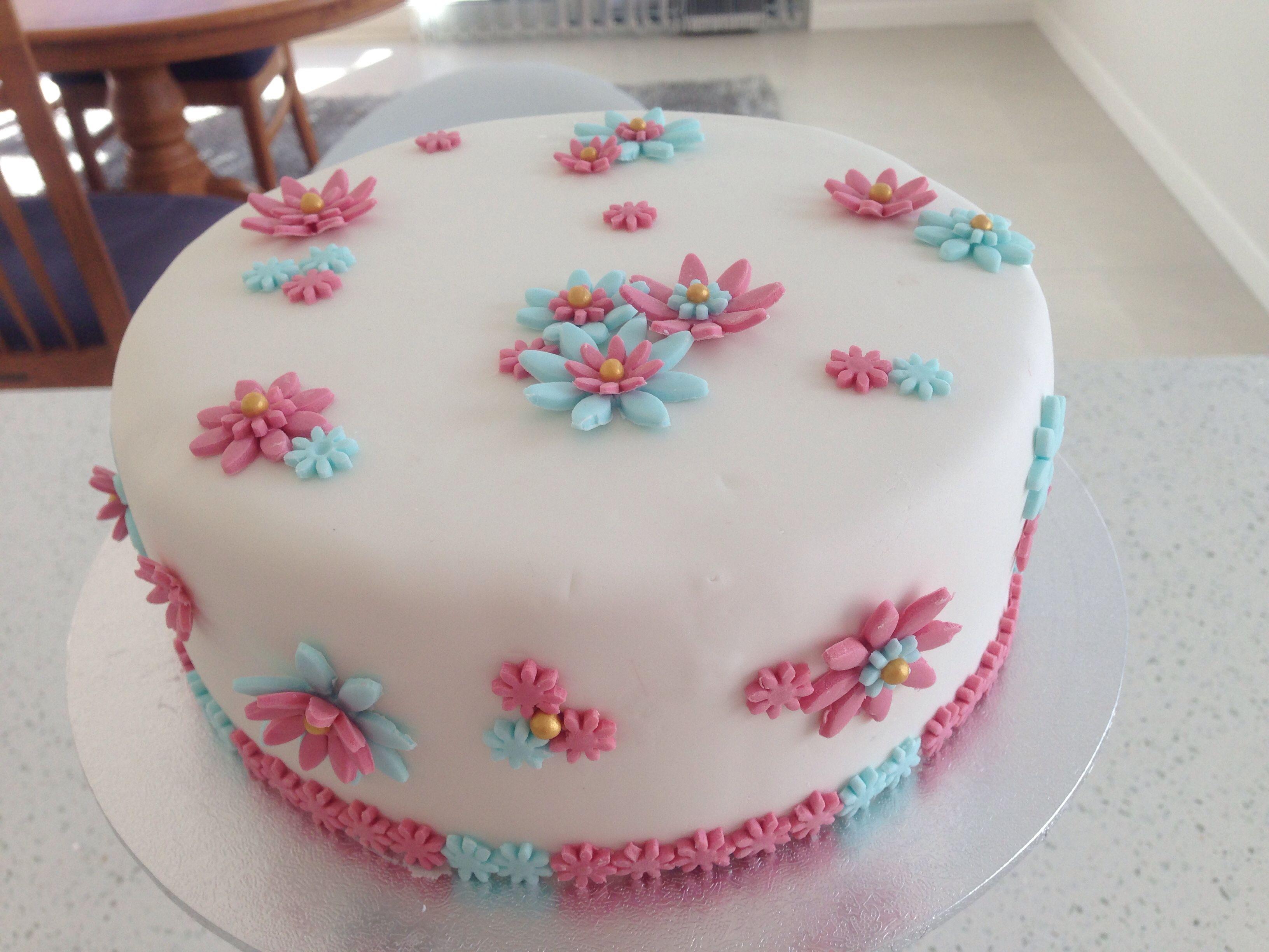 My first fondant cake.