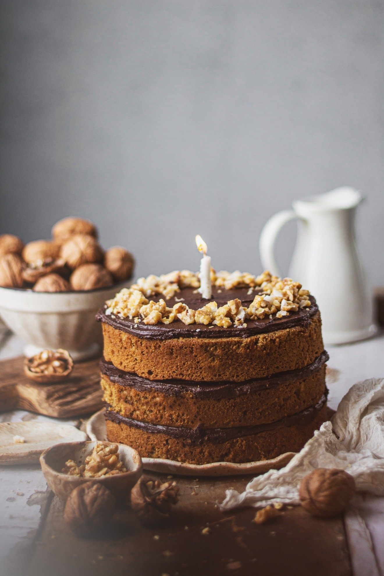 Almond Coffee Cake Eggless │ Eggless Coffee Cake