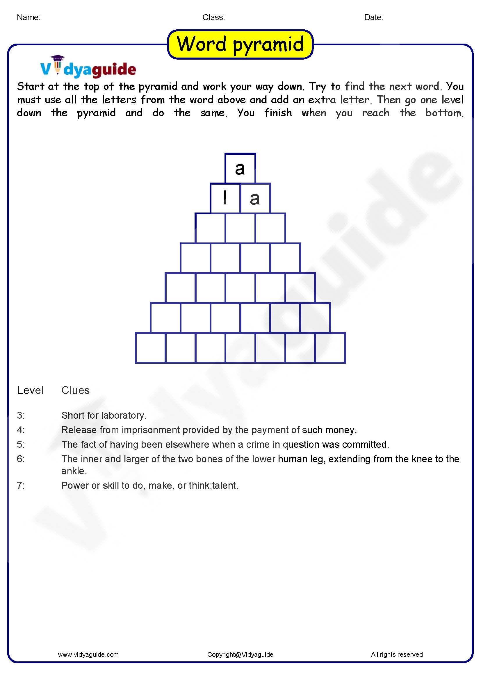 Word Pyramid 01