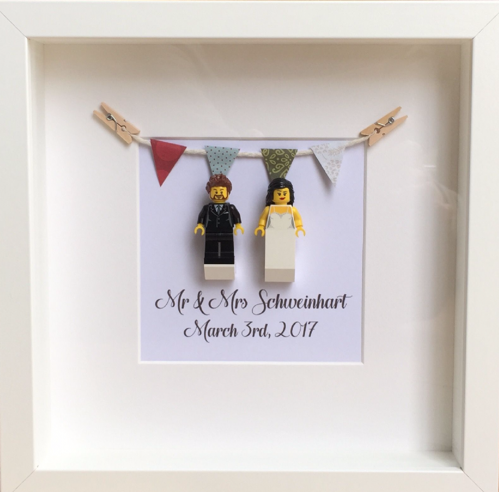 LEGO Personalised Mr & Mrs Wedding Gift Frame | Our Brick Library ...