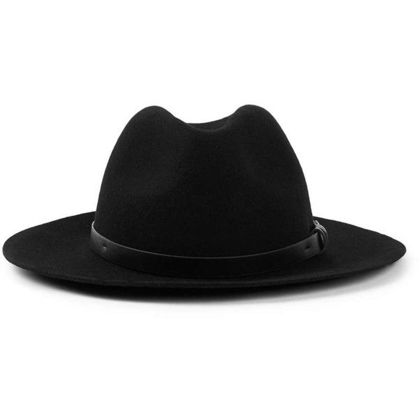 4c0da0cd2c99a2 TOPMAN Black Wool Smart Puritan Hat ($27) ❤ liked on Polyvore featuring  men's fashion, men's accessories, men's hats, black, mens wool hats and mens  wide ...