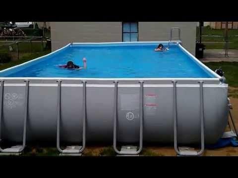 pool intex ultra frame 32x16 52 deep youtube