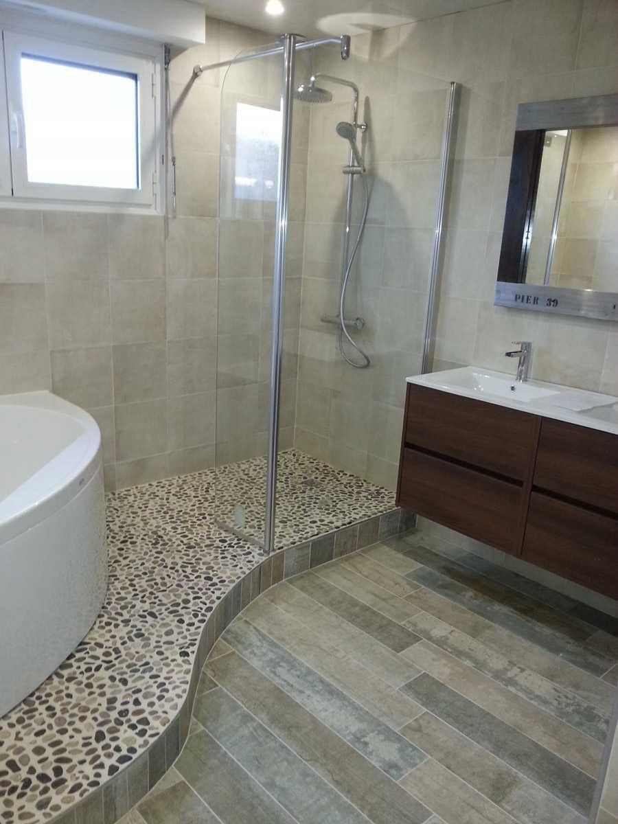 Image result for salle de bain avec douche italienne et baignoire d ...