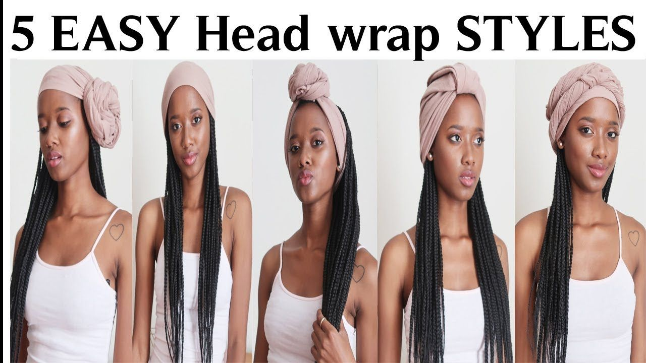how to tie a head wrap with braids