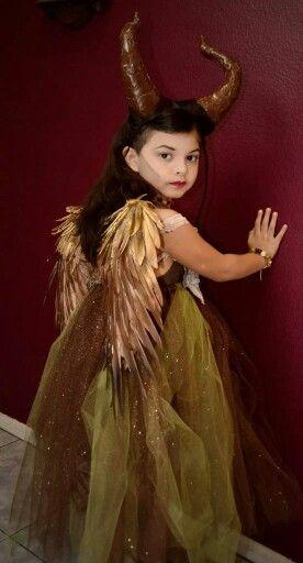 Diy Young Maleficent Costume Cumple Traje Malefica