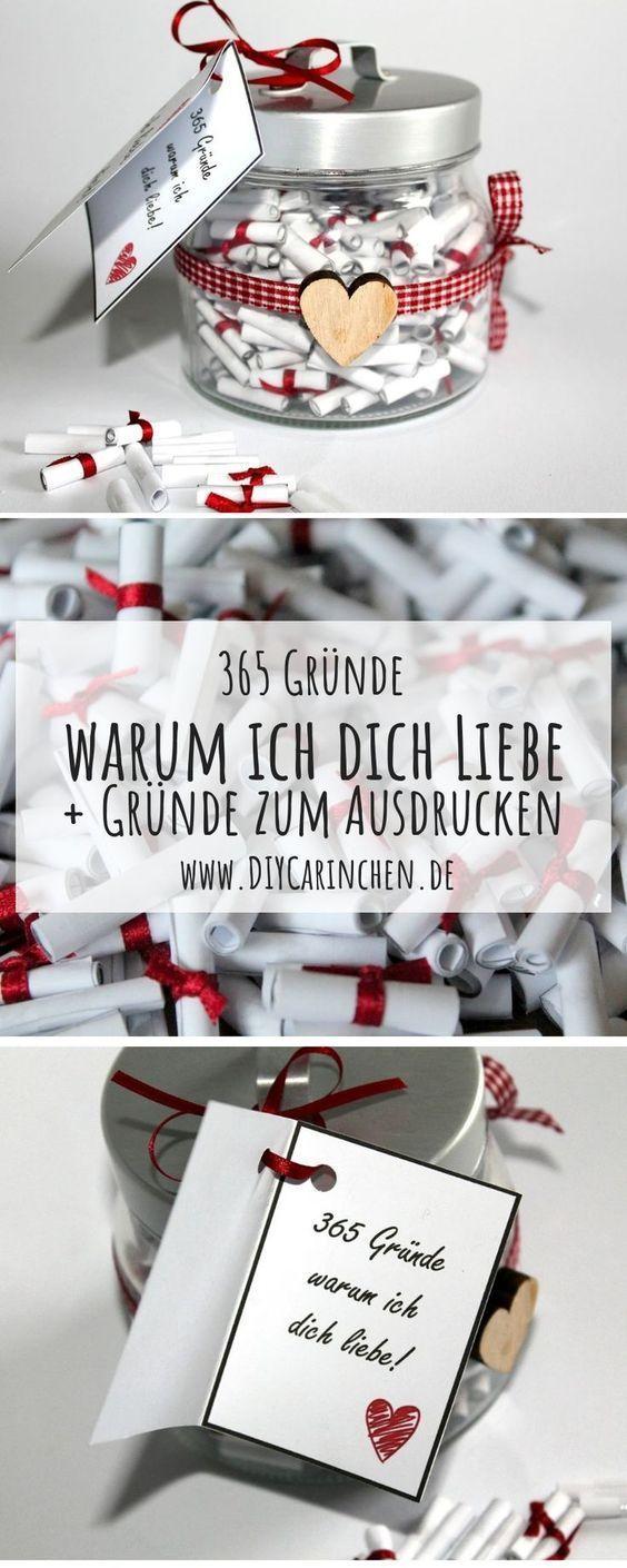 Die perfekte Geschenkidee: DIY 365 Gründe warum ich dich