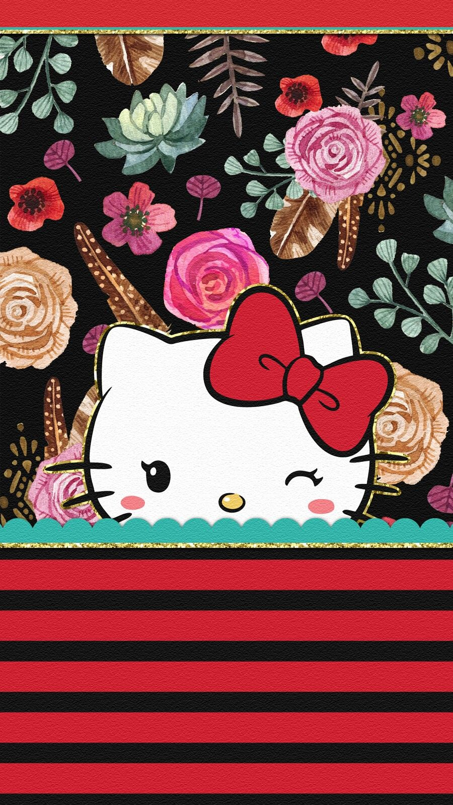 Spring Flowers Hello Wallpaper Hello Kitty Backgrounds Hello Kitty Images