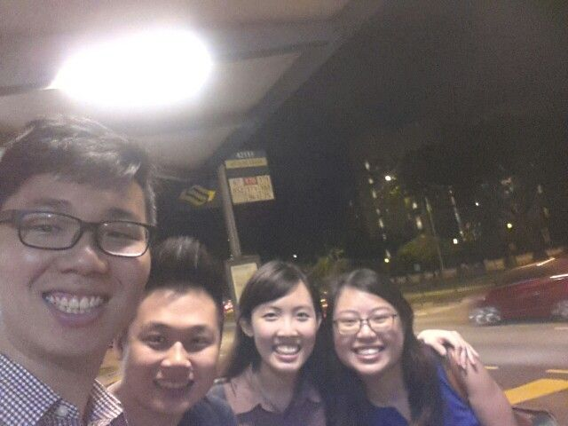 Clique from life group to go home tgr every week :) (7 Jan 2015)
