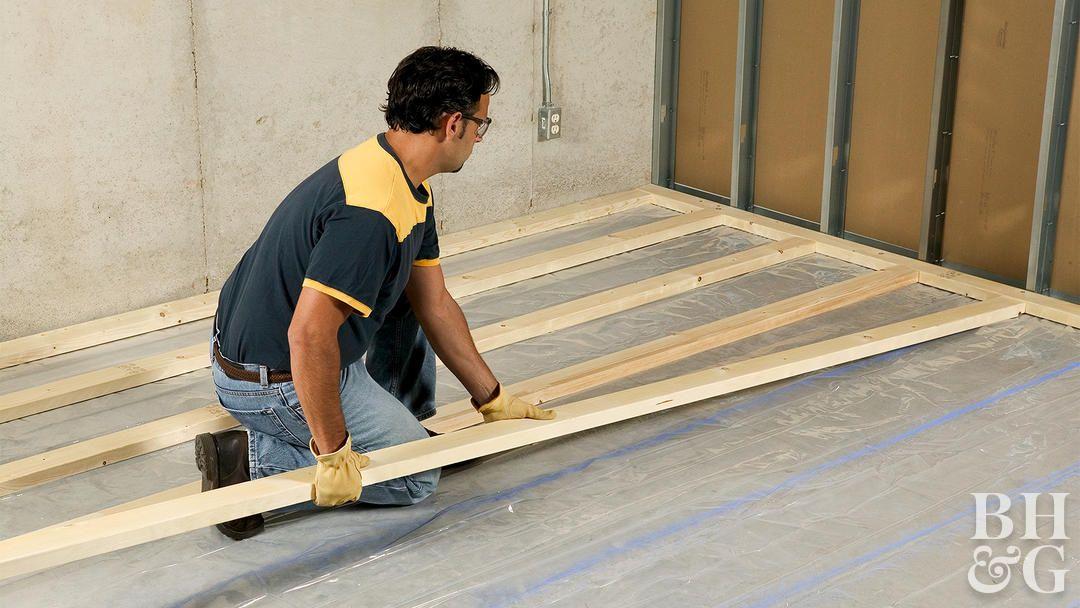 How To Install Framing For Sleeper Floors Floor Insulation Basement Bar Designs Floor Framing