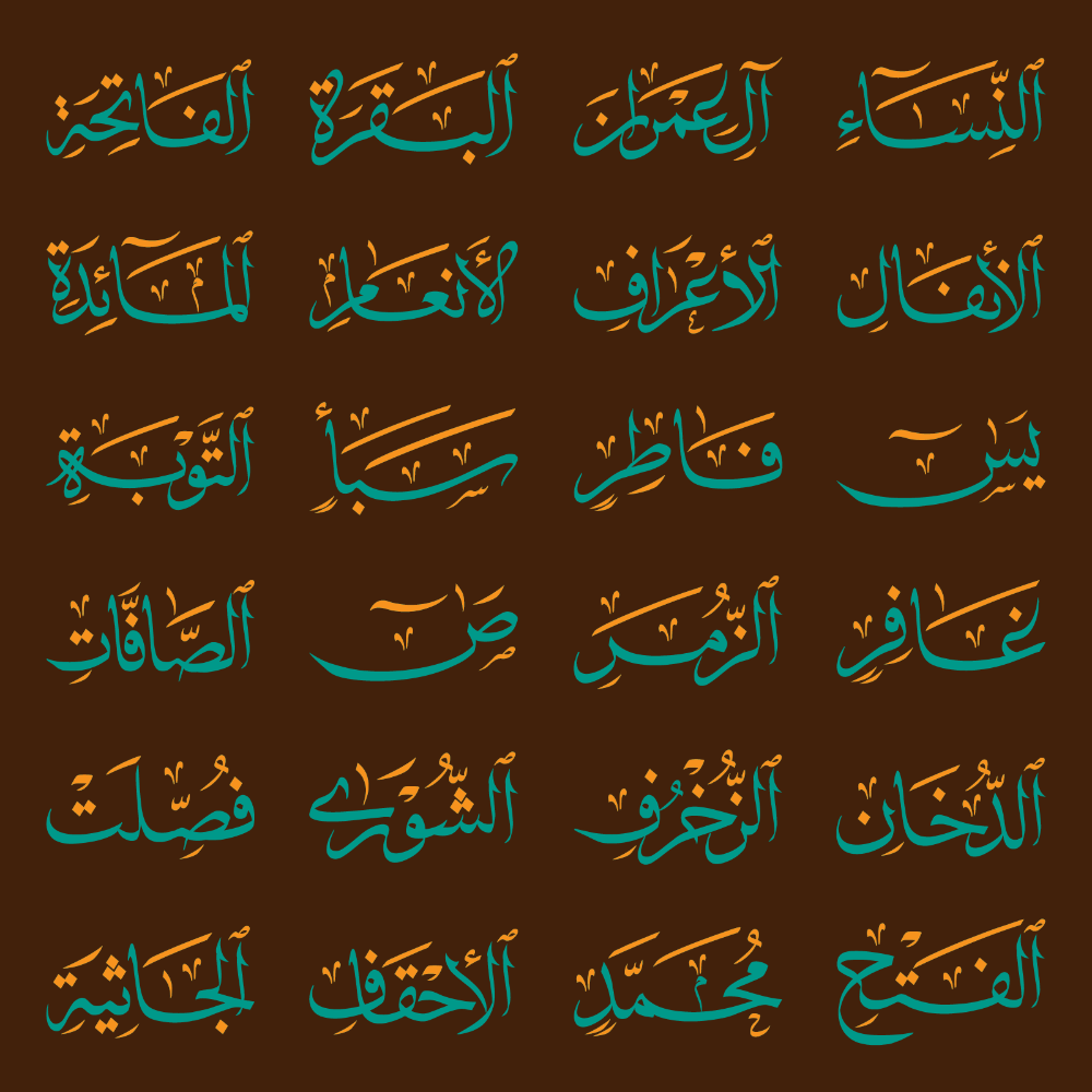Font Quran Surah 114 Color Arabic Islamic Font Ttf Svg Download Free Islamic Islam Arabic Type Typegang Arabic Quran Typed In 2021 Logo Fonts Fonts Quran Surah