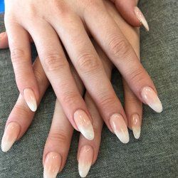 Almond Shape Nails Pointed Tips Are Super Ladylike And Can Make Short Wrinkled Fingers Ear Long Lean To Start The Shaping Process Snip Sides