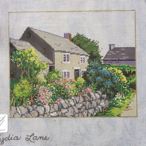Other Needlecraft Supplies 160715: Sandra Gilmore Handpainted Needlepoint Canvas Lydia Lane Stone Cottage -> BUY IT NOW ONLY: $144 on eBay!