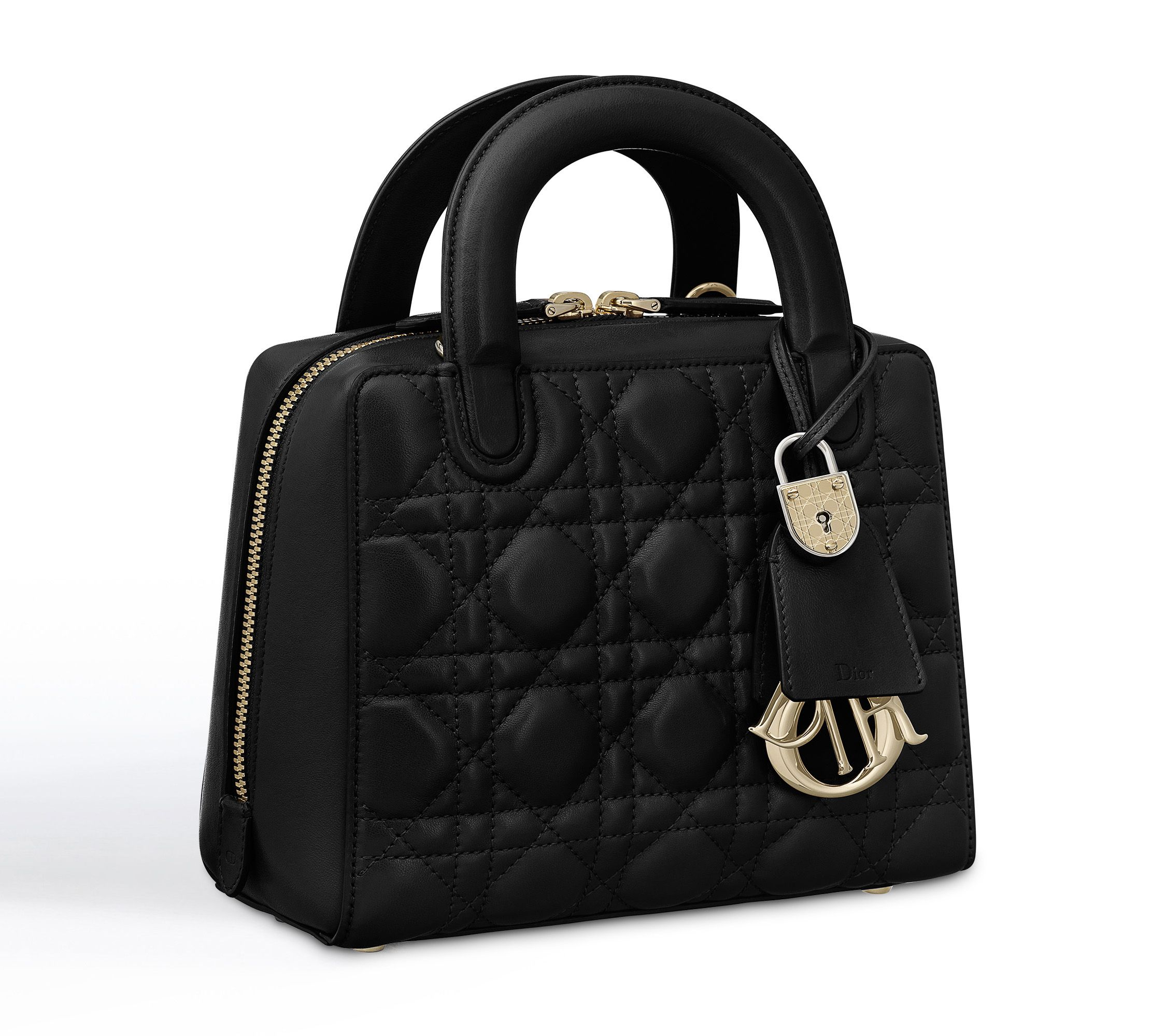 """lily"" bag in black cannage lambskin - Dior"
