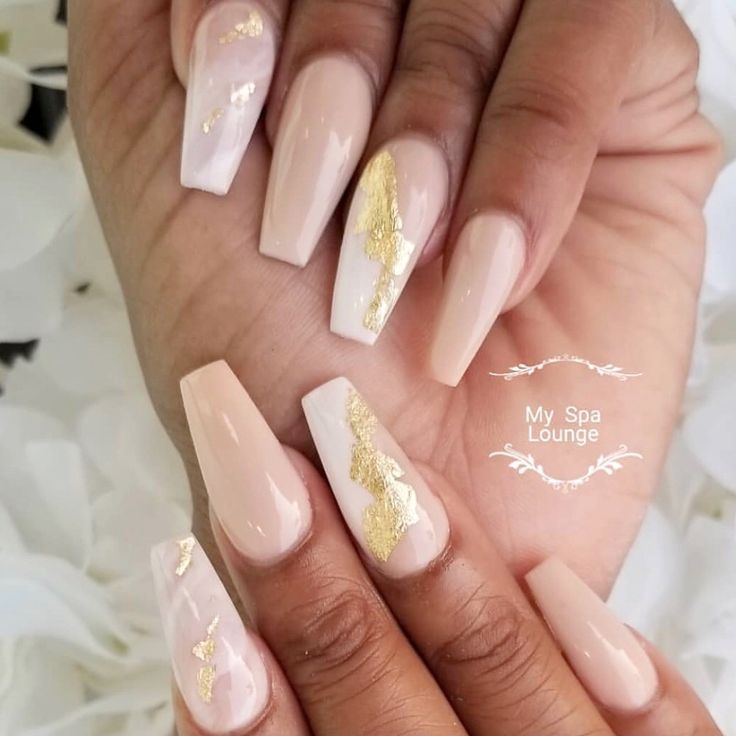Marble Accent Nails
