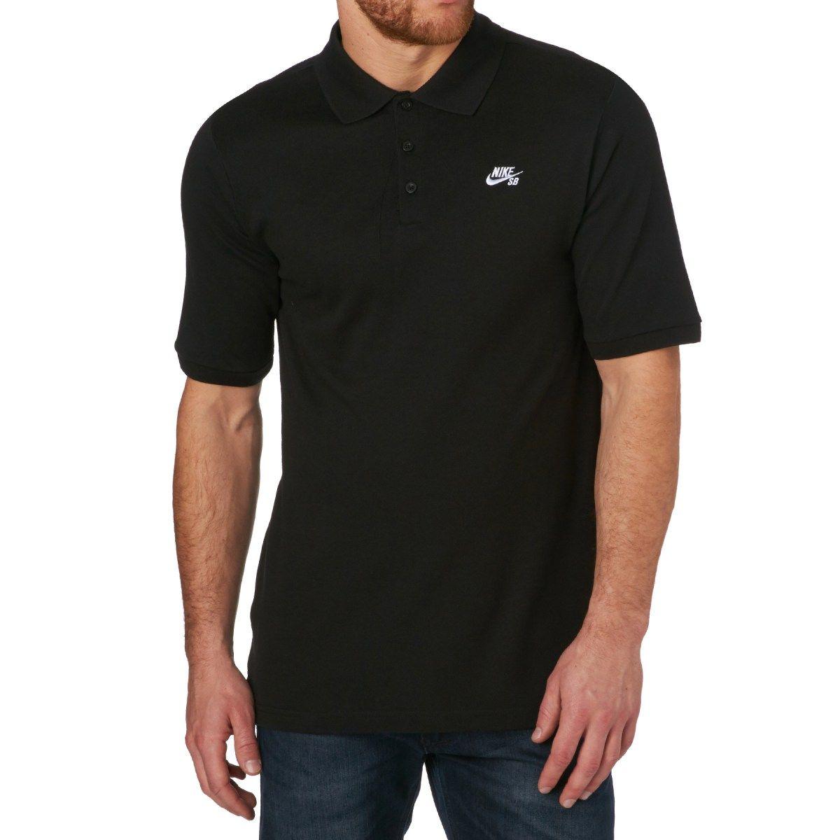 hot sale online ebf74 d4c05 Men s Nike Skateboarding Rugby Tops - Nike SB DRI-FIT Pique Polo Shirt -  Black