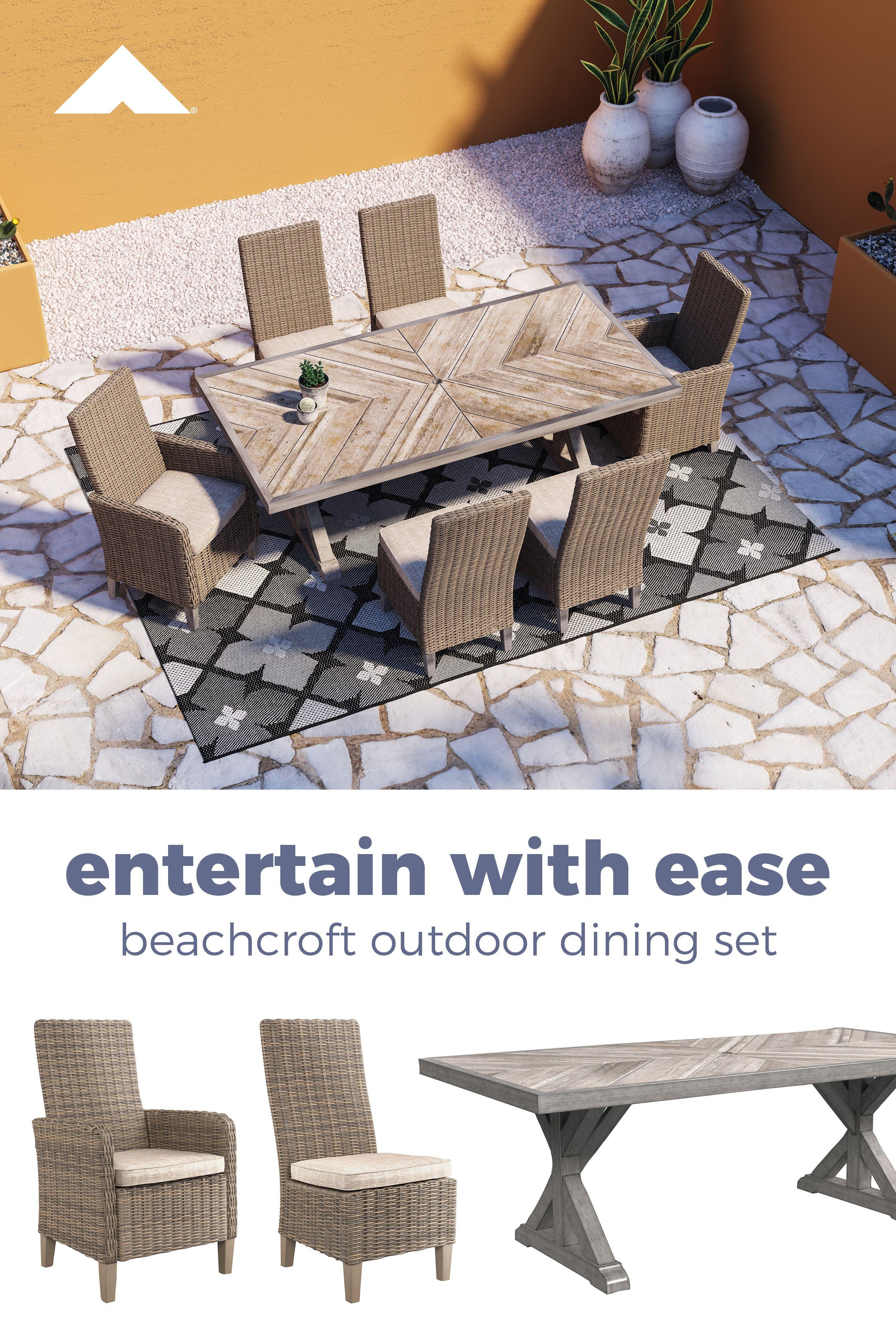 Beachcroft Beige Indoor And Outdoor Dining Furniture By Ashley Furniture Ashleyfurniture Dining Outdoor Dining Furniture Patio Remodel Outdoor Dining Set