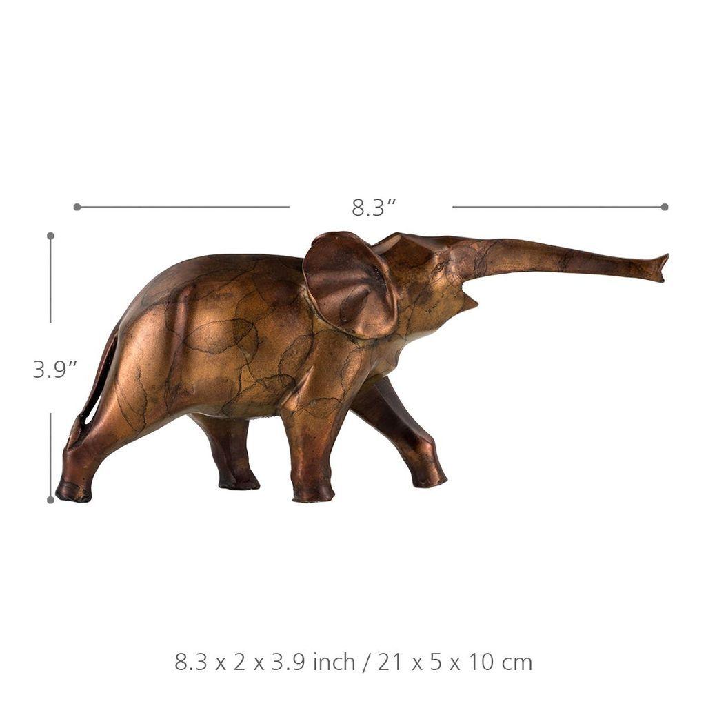 Blue - Golden Elephant Statue Art Figure   Products
