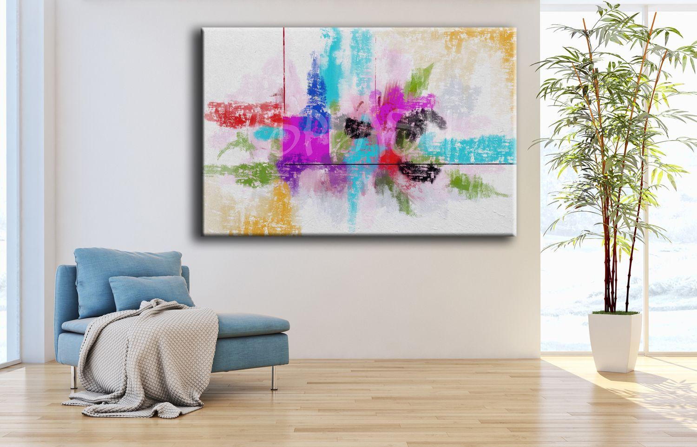 Abstracto colorido sp089 cuadros abstractos decoraci n - Cuadros para casas modernas ...