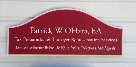 Patricke O'Hara Professional Business Sign | Danthonia Designs