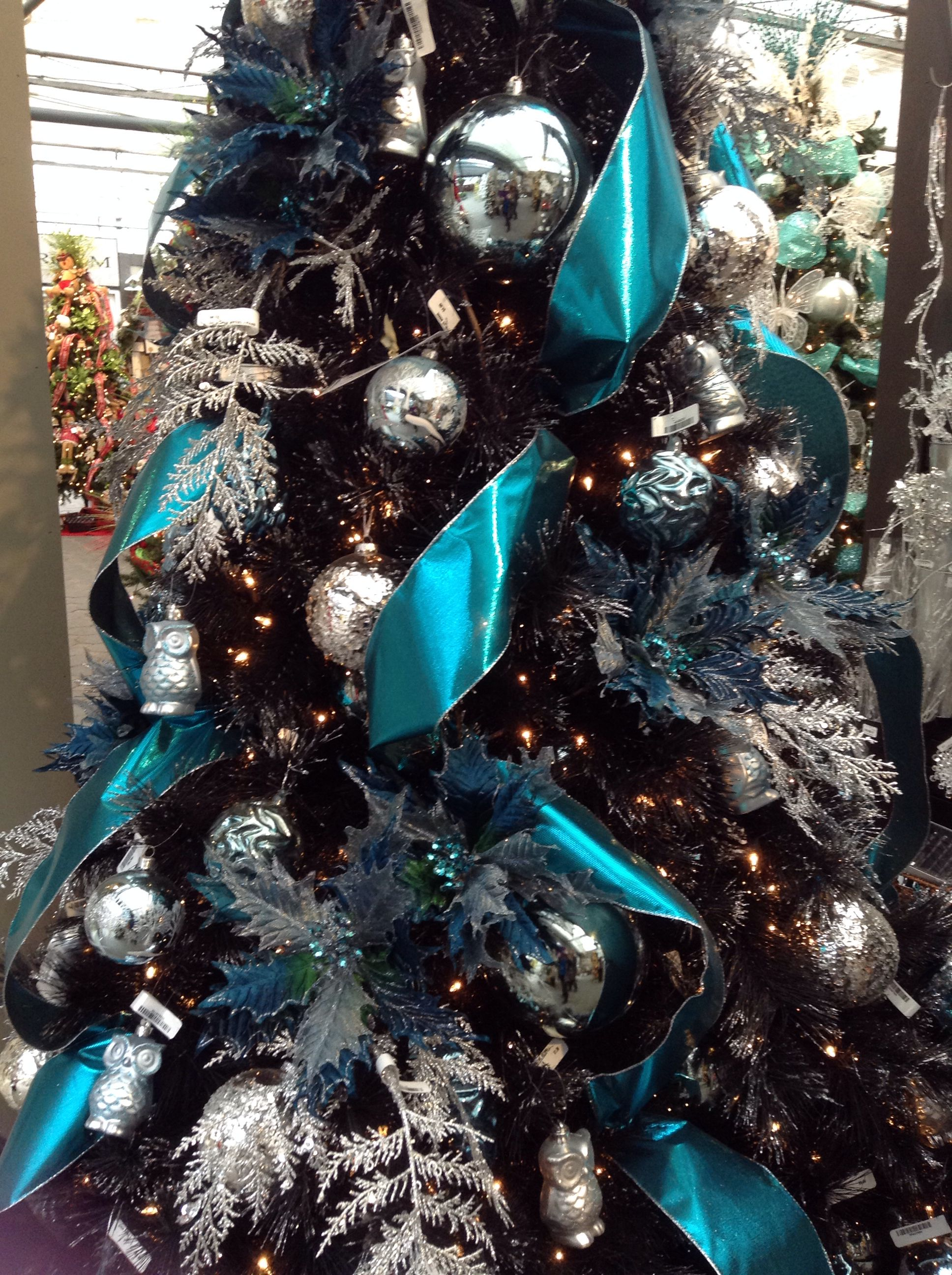 Blue and silver christmas tree | Christmas trees | Pinterest ...