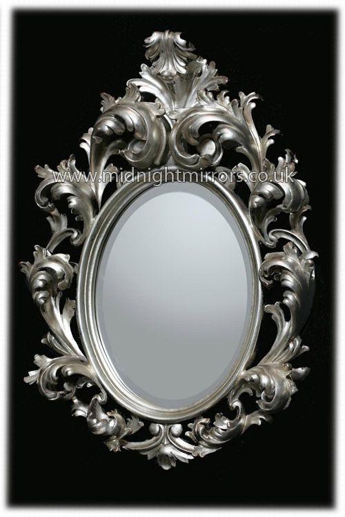Small Silver Rococo Mirror 70 x 50cm [mm317] - 242.88 : Midnight ...