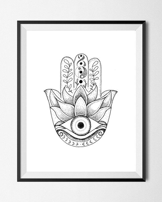 Hamsa evil eye drawing stipple dots allusive eyes for Evil eye coloring pages
