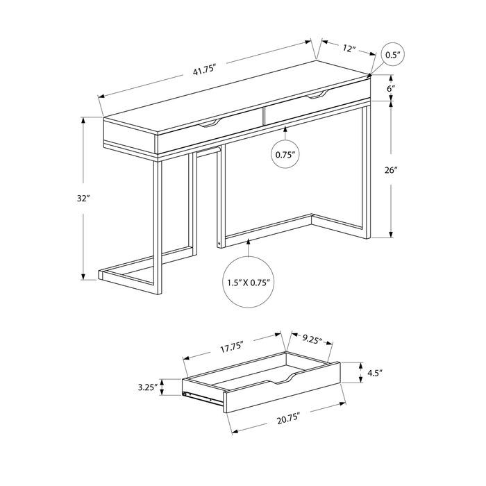 Torrence Console Table Modern Sofa Table Contemporary Console Table Console Table