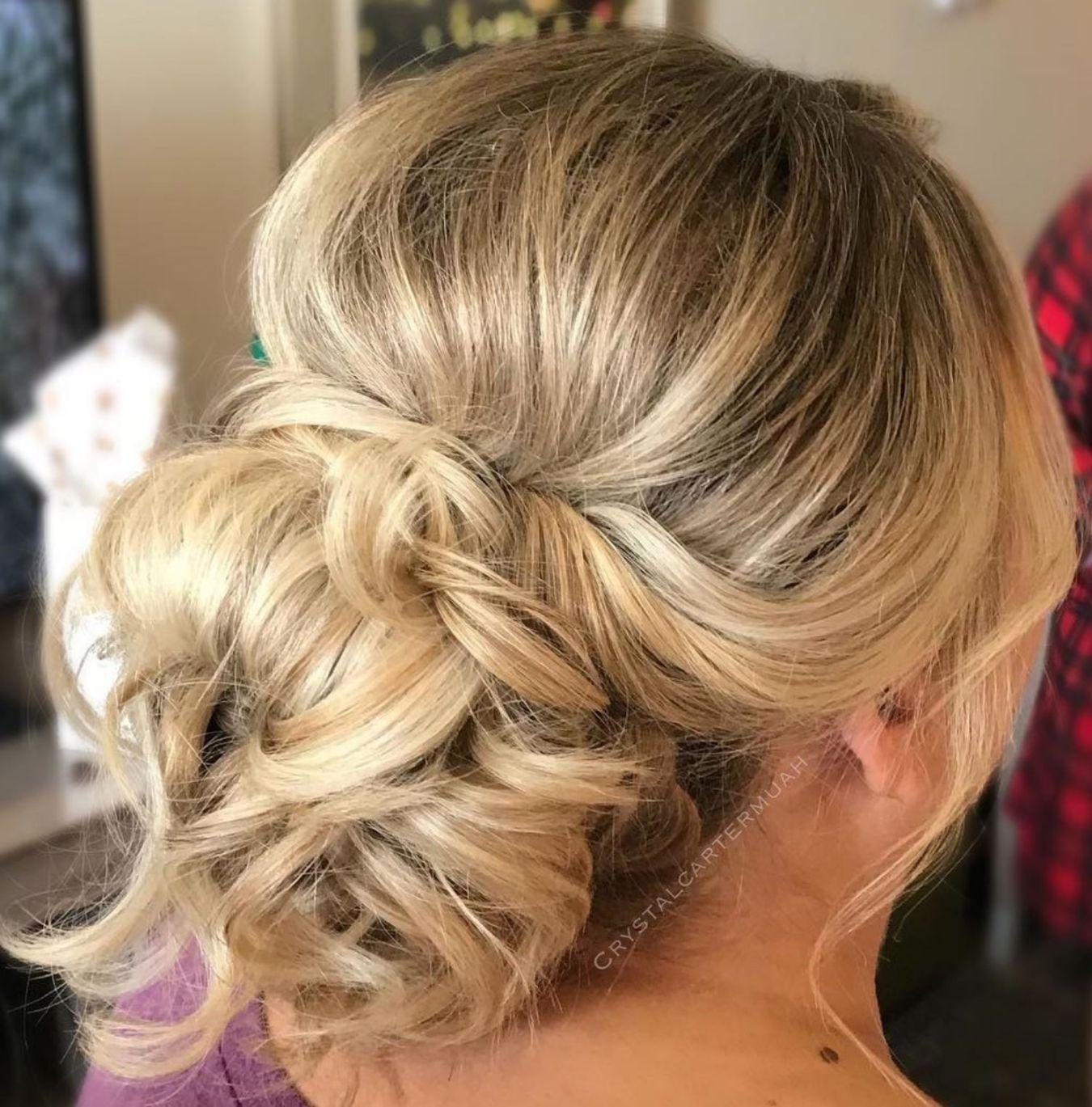 ravishing mother of the bride hairstyles in wedding hair