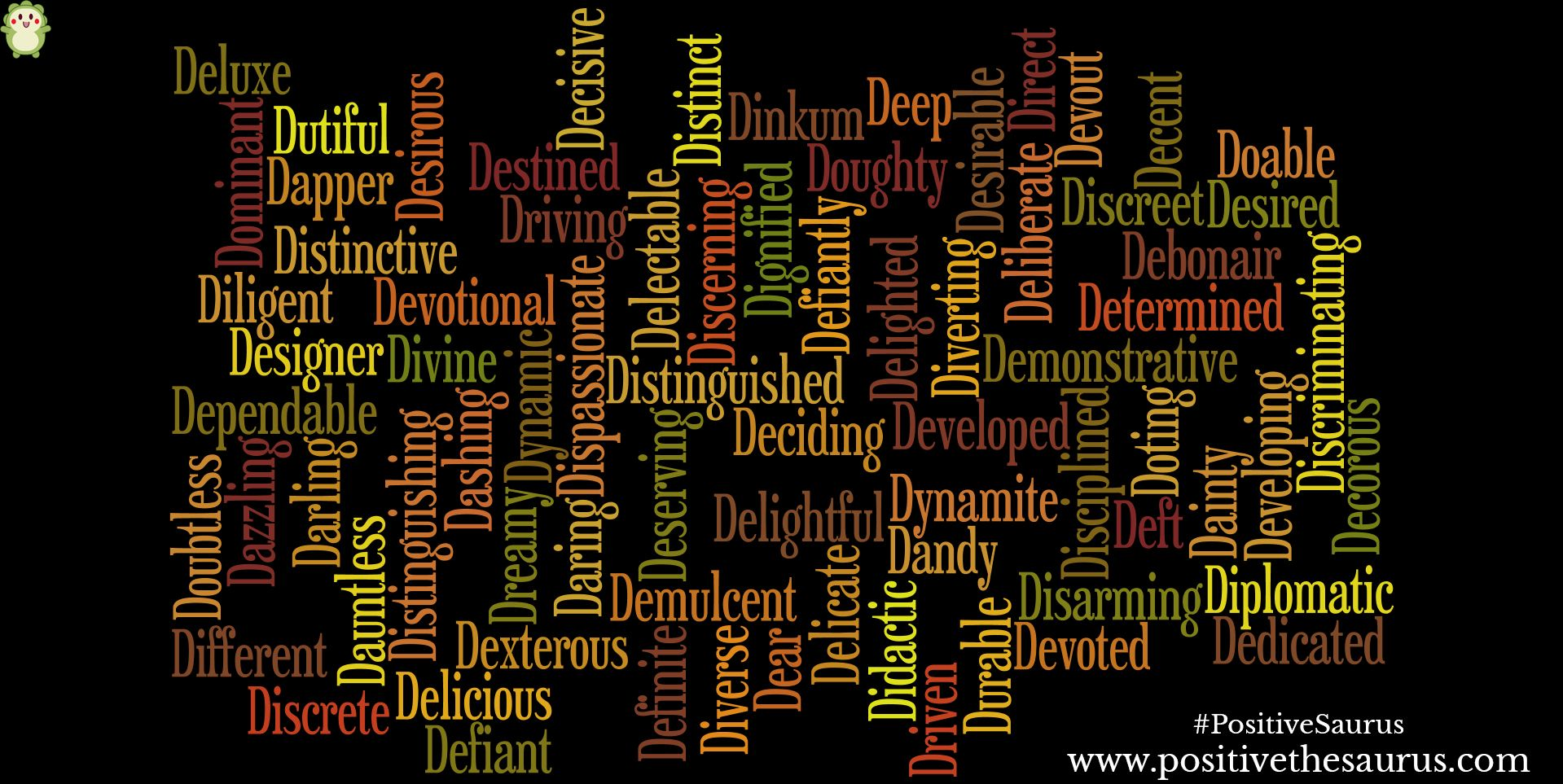 Positive Adjectives That Start With D Positive Adjectives
